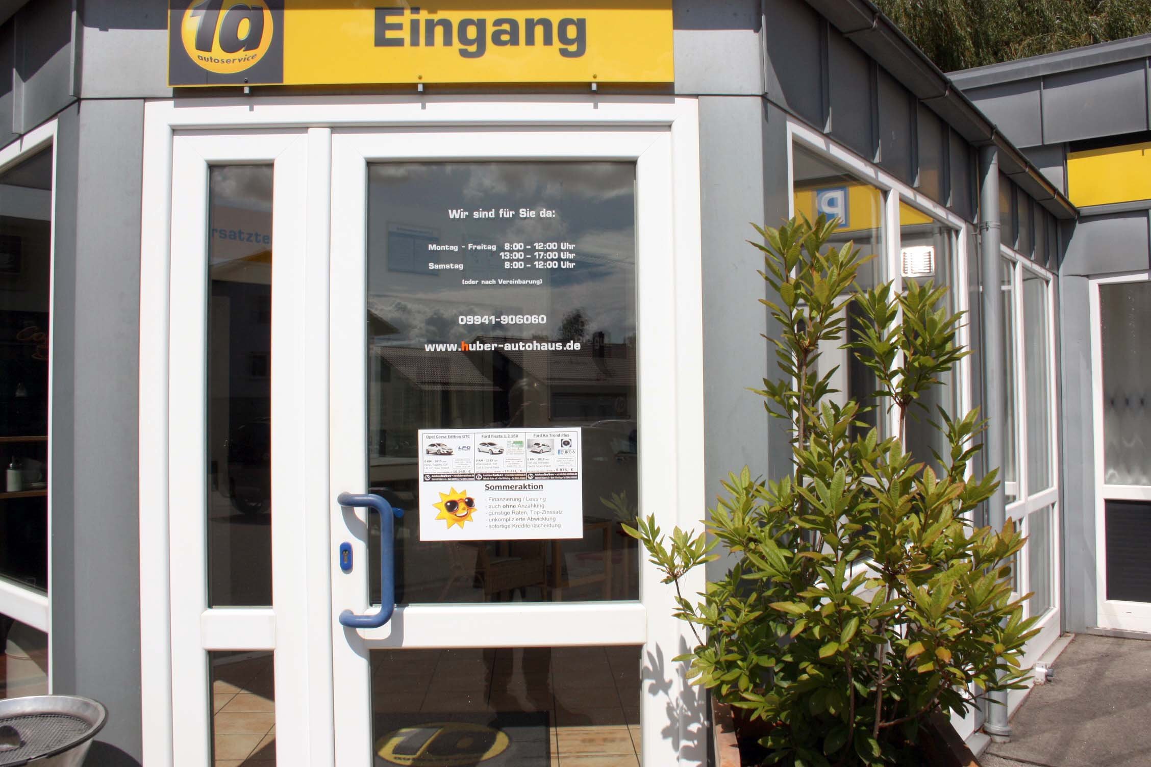 Autohaus Huber - Eingang Zentrale